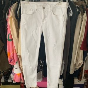 White Zara Ripped Jeans